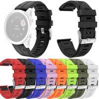 многоцветный силиконовые часы группы оптовых-2019 Chaonan Multi-Color Спорт Силиконовые Замена часы группы ремешок для Garmin Fenix5S / Fenix5S плюс Корреа де Релох