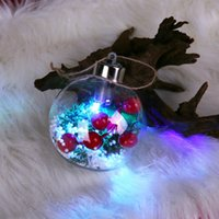 Wholesale plastic christmas ornament balls for sale - Group buy 80mm LED Xmas Plastic Ornaments Fillable Christmas Tree Balls LED Light For Garden Patio Home Anniversary Christmas Decorations