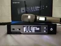 micrófono inalámbrico de karaoke de solapa al por mayor-620-670 MHz negro oro KTV karaoke etapa rendimiento skm9100 auricular solapa oro dorado profesional micrófono inalámbrico
