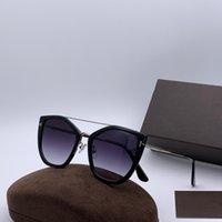 paquete original de gafas de sol al por mayor-Lujo 0648 Gafas de sol para mujer Ojo de gato Marco completo Gafas de sol de diseñador de moda Protección UV de calidad superior Vienen con el paquete original