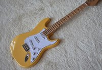 Wholesale electric guitars prices for sale - Factory In Stock Now Special Price Yellow Electric Guitar with Scalloped Neck Big Headstock Chrome Hardware Can be Customized