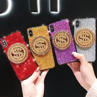 чехол для телефона для монет оптовых-2019 Новый модный чехол для телефона для iPhone X / XS XR XSMAX 7/8 7plus / 8plus Популярная защитная задняя крышка Вращающиеся золотые монеты 4 стиля