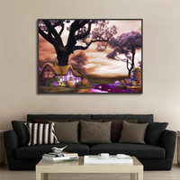 Wholesale country landscaping pictures for sale - Group buy Beautiful Landscape Country Life Poster Art Print Canvas Painting Picture Home Wall Art Aisle Painting Modern Decoration Custom