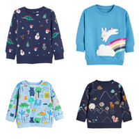 Wholesale baby boy white hoodie resale online - Baby Kids Hoodies Design Cartoon Dot Printed Christmas Long Sleeve Tops Kids Clothes Boy Girl Pure Cotton Clothing T