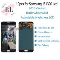 сенсорный дисплей для галактики samsung s3 оптовых-10 ШТ. Регулируемая яркость ЖК-Дисплей Для Samsung Galaxy J3 2016 J320 J320F J320M ЖК-Дисплей Сенсорный Экран Digitizer Ассамблеи Замена