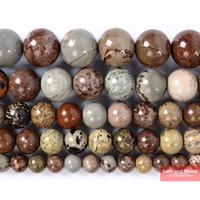 perlen armband preisgestaltung großhandel-Fabrik Preis Naturstein Bunte Bild Jaspis Perlen Für Halskette Armband, Strand 16