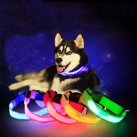 Wholesale led reflective dog collar for sale - Group buy 4 Colors Cat Dog Pet Colorful Light Flashing Safety Adjustable Collar Solid Color Led Reflective Dog Anti Lost Collar LED DH0272