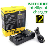 Wholesale batteries eu plug for sale - Original Nitecore I2 Universal Intelligent Charger for E Cigarette mods Battery Intellicharger US UK EU AU PLUG mod