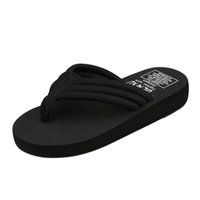 Wholesale pure flooring for sale - Group buy Women Summer Non slip EVA Pure Color Bath Slippers Home Anti slip Slippers Women s Black Beach Flip Flops Drop ship