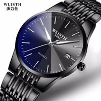 relojes masculinos delgados al por mayor-Wlisth Top Brand Luxury Mens Relojes de negocios impermeables Hombre Cuarzo Reloj de pulsera ultrafino Reloj masculino Relogio Masculino MX190725