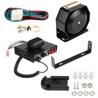 Wholesale siren car horn for sale - Group buy Car Alarm Horns Megaphone Electronic Speaker V W Db Loud Car Siren Mic PA Speaker Warning Adjustable