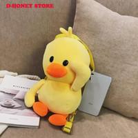 ingrosso i bambini gialli del messaggero-Yellow Duck Plush Crossbody Bag bambini Borsa bambini Borse a tracolla Borsa a mano Messenger Bag per le donne 2019