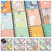 karikatur spirale notebook großhandel-Mode 35style Cartoon Tagebuch Bücher Coil Tragbare Accounts Notebook Creative Book koreanischen Studenten Notepad School Supplies 8 * 10.5cmT2I5421