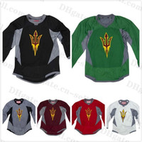 Wholesale Custom Arizona State Sun Devils Hockey Jersey College Practice Hockey Jerseys All Stitched Men Women Youth
