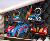 Wholesale decorated 3d wallpaper resale online - 3d room wallpaper custom photo mural Retro Racing Rider Bar KTV Restaurant Decorating Wall wallpaper for walls d