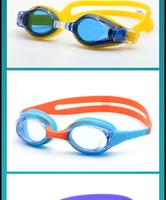 nadar tapones para los oídos al por mayor-alta calidad del verano Swim gogglhhgjghd454 Gafas de natación a prueba de agua y el tapón del oído anti-vaho de clip colores del marco desmontable