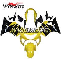 siyah sarı motosiklet fuar toptan satış-Parlak Sarı Siyah Motosiklet Tam Fairing Kiti Honda CBR600F4 Yıl 1999 2000 CBR600 F4 1999 2000 ABS Plastik Enjeksiyon Kaportalar