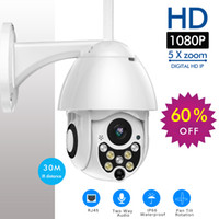 wifi ağ güvenlik kamerası toptan satış-SDETER 1080 P PTZ IP Kamera Açık Speed Dome Kablosuz Wifi Güvenlik Kamera Pan Tilt 5X Zoom IR Ağ CCTV Gözetim 720 P