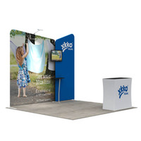 Wholesale 3 Portable Cheap OEM Design Folding Booth Stand Trade Show Display Booth Stand with Aluminum Tube Structure Custom Printing Graphics