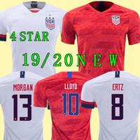 camiseta de fútbol de oro al por mayor-Copa de oro 2019 America Home away EE. UU. Jersey de fútbol 2019 copa america Camisa de fútbol de Estados Unidos EE. UU., Hombres Fútbol Uniforme CAMISA
