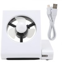 Wholesale mini pc cooling fan resale online - Mini Fan Fashionable Mini Cooling Fan for Notebook PC With port USB2 HUB On Off switch USB2 HUB