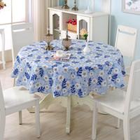 blaue plastikhochzeit blumen großhandel-Blumen, die erstklassige Plastikpicknicktischdecke 70.8