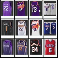 charles barkley basketball al por mayor-1 Devin Nash Booker 13 Steve Nash Ayton 22 DeAndre Barkley Julius Erving 34 Charles jerseys del baloncesto