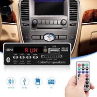modules usb mp3 achat en gros de-Car Radio Board Lecteur MP3 USB mains libres Bluetooth intégré FM Module décodeur pour carte SD voiture avec télécommande