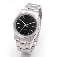 Wholesale precision watch resale online - Hot Sale Mens Watches Stainless Steel Strap Air King Black Dial Precision Automatic Movement Sapphire glass Mirror Black watch
