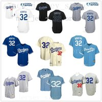 Wholesale light miller for sale - Group buy Grey Light Blue Cream Retro Sandy Koufax Jersey Mens Mitchell And Ness Ls As Dodgers Stitched Top Quality