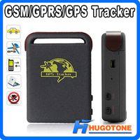 quads en línea al por mayor-Personal Spy Car GPS Tracker TK102 Banda cuádruple Global Online Vehicle Tracker Tarjeta TF Desconectado Dispositivo en tiempo real con paquete Envío gratis