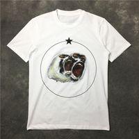 новые футболки для мужчин оптовых-Совершенно новый летний мужской дизайнер футболка одежда с коротким рукавом футболки рев орангутанга обезьяна круг звезда футболка унисекс футболка хлопок топы
