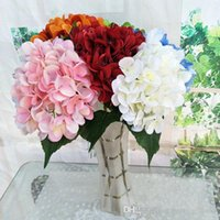 Wholesale light centerpieces weddings for sale - Group buy DHL Artificial Hydrangea Flower Fake Silk Single Real Touch Hydrangeas Colors for Wedding Centerpieces Home Party Decorative Flowers