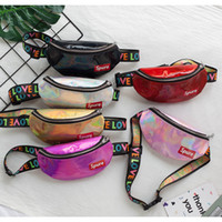 çanta modası çocukları toptan satış-Lazer unisex bel çantası moda tasarımlar mini bebek göğüs çanta çocuk küçük kız erkek çocuklar için crossbody sling omuz çantası
