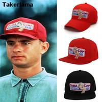 kadınlar için cosplay kostümleri toptan satış-Takerlama 1994 Bubba Gump Karides CO. Beyzbol Şapka Forrest Gump Kostüm Cosplay Nakış Snapback Kap ErkeklerKadınlar Yaz Kap