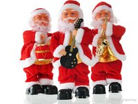 Wholesale blow doll toys for sale - Wholesales Blowing saxophone Christmas music old man electric step Christmas decorations doll children s toys