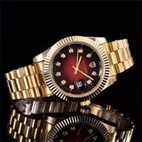 calendários relógio de aço inoxidável venda por atacado-40mm de luxo das mulheres famosas dos homens relógios de quartzo relógio de aço inoxidável literal strass dial relógio calendário função de quartzo relógios