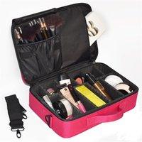 sacos cosméticos de alta qualidade venda por atacado-Mulheres Saco de Cosmética de Alta Qualidade de Viagem Cosméticos Organizador Zipper Portátil Maquiagem Designers Saco Tronco Maquiagem Sacos