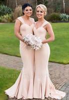 estilo formal simple vestido al por mayor-2020 sin tirantes largo de la dama de honor vestidos de fiesta de la boda de honor junior vestido formal para los vestidos del estilo de país estilo mixto