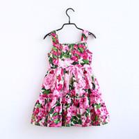 des tenues familiales assorties pour l'été achat en gros de-Femmes filles robe d'été enfants bohème floral imprimé jarretelles robe enfants robe de princesse maman et moi Family Matching Outfits C6576