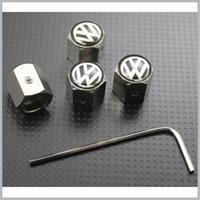 Wholesale tire anti theft resale online - Volkswagen Wheel Tyre Tire Valve Stem Air Dust Covers Caps Anti Theft Locking VW More Than Different Car Logo Available