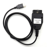 vcm quality toptan satış-Fcarobd Için 1 adet Yüksek kalite Ford VCM OBD Teşhis Kablo ve Konnektör Desteği ECU'ların ve Modellerin Geniş Aralığı Ford-VCM Mazda Arayüzü