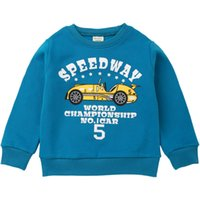 Wholesale clothes designs for baby boy for sale - Group buy Sport Sweatshirts For Boys Girls Cute Fun Racing Car Design Blouse Kids Hoodies Children Pullover Tops Winter Baby Clothes