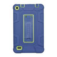 ingrosso accendisca il supporto del fuoco-Cover rigida per tablet ibrida in silicone di alta qualità per tablet e smartphone per Amazon Kindle Fire 7 2015 2017 Custodia HD8 2016 con supporto per supporto