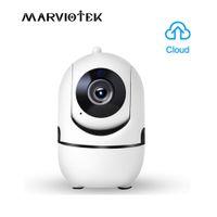 Wholesale wireless ip auto camera online - 1080P Auto Tracking IP Camera WiFi Baby Monitor Home Security IP Camera IR Night Vision Wireless Surveillance Mini CCTV