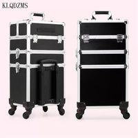 ups equipaje al por mayor-KLQDZMS las mujeres de alta calidad profesional compone la caja cosmética maleta trolley gran capacidad del equipaje del balanceo de ruedas