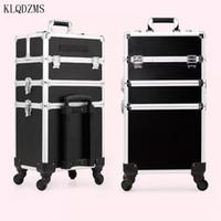 maletas maletas al por mayor-las mujeres de alta calidad profesional de maquillaje cosmético caso maleta trolley gran capacidad del equipaje del balanceo de ruedas