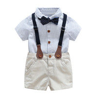 Wholesale boys dress for weddings for sale - Group buy baby boys clothes for summer years kids Wedding dress handsome boy clothing set