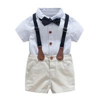 vestidos de casamento casacos venda por atacado-roupas de bebê meninos para o verão 1 2 3 anos crianças vestido de noiva conjunto de roupas menino bonito