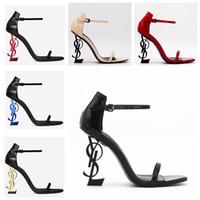 sapatas do laço do champanhe para wedding venda por atacado-New Fashion Preto Sandals Super de salto alto Sexy Night Club Belas de salto alto sandálias sapatos de casamento de praia